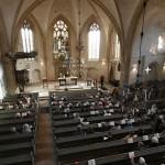 Viel Volumen für die Lieder des Reformators bietet der Innenraum der Westerkappelner Stadtkirche. Foto: Ulrike Havermeyer